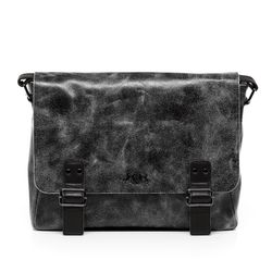 SID & VAIN Messenger bag Distressed Vintage schwarz Laptoptasche Messenger bag