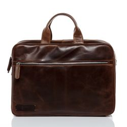 BACCINI laptop bag BEN -1609- business bag PULL-UP leather - brown-cognac