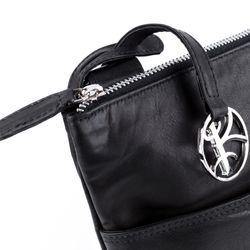 BACCINI cross-body bag SAM ipad leather bag with shoulder strap S black Smooth Leather shoulder bag  3