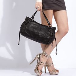 top-handle tote bag ANNA Nappa Leather 5