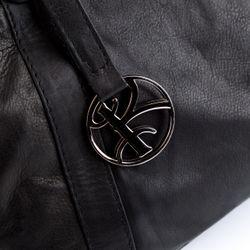 BACCINI Handtasche Soft Nappa schwarz Henkeltasche Handtasche mit langen Henkeln 4