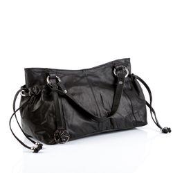 BACCINI Handtasche lange Henkel ANNA Soft Nappa schwarz Henkeltasche Handtasche mit langen Henkeln 2