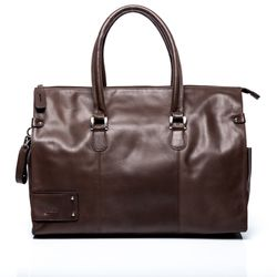 BACCINI travel bag LUCA -1- weekender SMOOTH leather - brown