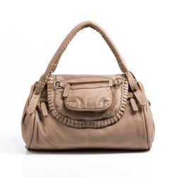 BACCINI tote bag & shoulder bag GISELE -201- handbag WASHED leather - camel-beige