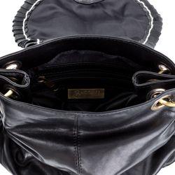 BACCINI Umhängetasche GISELE Washed Leder schwarz Crossbody bag Umhängetasche 4