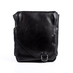BACCINI messenger bag BRIZIO -99- shoulder bag SMOOTH leather - black