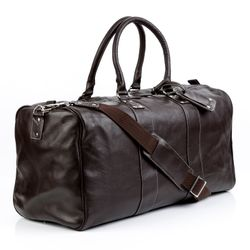 BACCINI travel bag TOBY -300- weekender FLOATER leather - brown