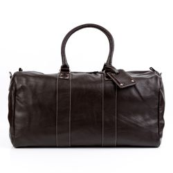 BACCINI travel bag carry-all  TOBY  weekender duffel bag XL brown Smooth Leather overnight duffle bag hold-all