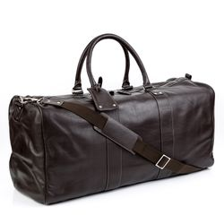 BACCINI travel bag TOBY -301- weekender FLOATER leather - brown