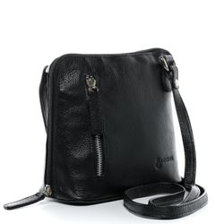 BACCINI cross-body bag CYNTHIA  leather bag with shoulder strap S black Smooth Leather shoulder bag  2