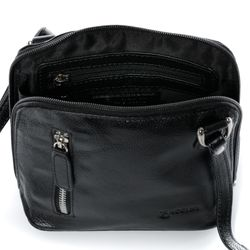BACCINI cross-body bag CYNTHIA  leather bag with shoulder strap S black Smooth Leather shoulder bag  4