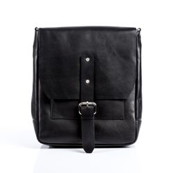 FEYNSINN messenger bag JACKSON -350- shoulder bag SMOOTH leather - black