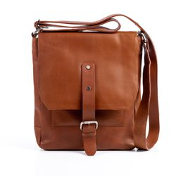 FEYNSINN messenger bag JACKSON -350- shoulder bag VT-ANALIN leather - tan-cognac