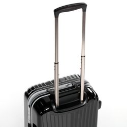 FERGÉ carry-on trolley with premium aluminium frame BORDEAUX -XB-25- suitcase hard-top case ABS&PC - black-shiny 5
