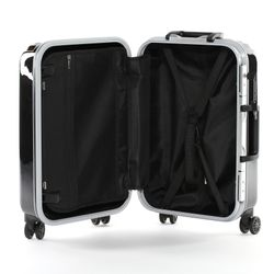 FERGÉ carry-on trolley with premium aluminium frame BORDEAUX -XB-25- suitcase hard-top case ABS&PC - black-shiny 3