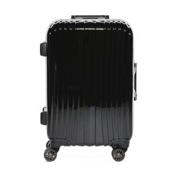 FERGÉ carry-on trolley with premium aluminium frame BORDEAUX -XB-25- suitcase hard-top case ABS&PC - black-shiny 1