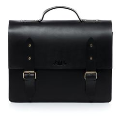 SID & VAIN briefcase BOSTON -1242- business bag SADDLE leather - black