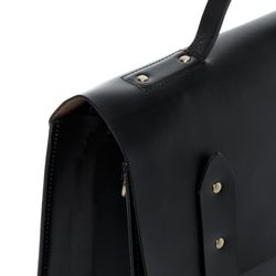 SID & VAIN serviette ordinateur portable cuir noir cartable porte-document attaché-case sac de travail avec sangle 3
