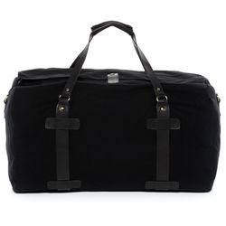 SID & VAIN travel bag CHASE -1551- weekender CANVAS-PULL-UP leather - black-black