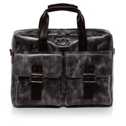 SID & VAIN Laptoptasche HARVEY Umhängetasche L Distressed Leder Aktentasche Businesstasche