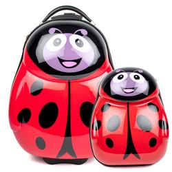 FERGÉ Set Kinder-Trolley & Rucksack LadyBird ABS & PC LadyBird Handgepäck-Koffer Rollen 1x Kinder-Trolley & 1x Rucksack