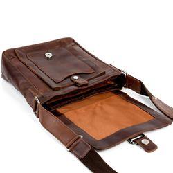 STOKED Umhängetasche Natur-Leder braun-cognac Messenger Bag Umhängetasche 3