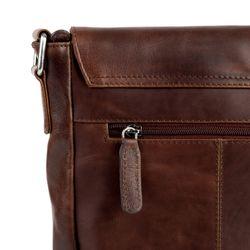 STOKED sac de messager cuir marron sac à bandoulière besace messenger 4