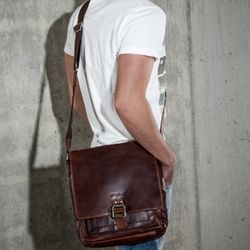 messenger bag NATHAN Natural Leather 5