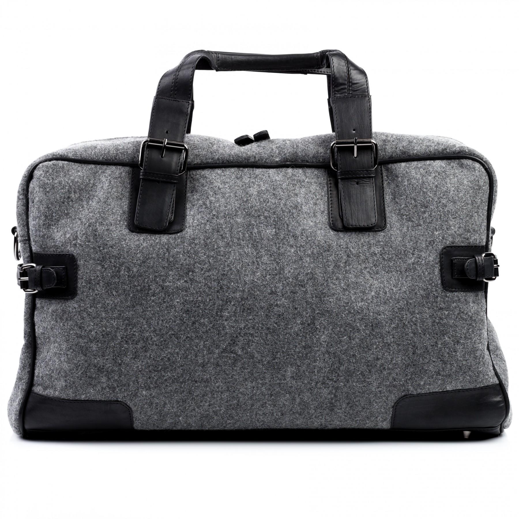 439f48889f0b FEYNSINN travel bag holdall Felt   Leather SARAH black-grey ...
