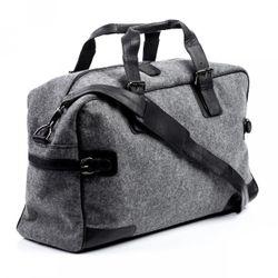 FEYNSINN travel bag carry-all  ROBERTO  weekender duffel bag L black Smooth Leather overnight duffle bag hold-all  2