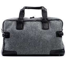 travel bag holdall  ROBERTO Felt & Leather 4