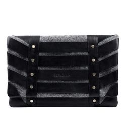 clutch SARAH Felt & Leather