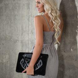 FEYNSINN pochette cuir noir clutch sac à main de soirée 5
