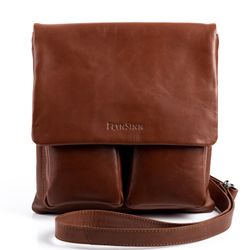 FEYNSINN cross-body bag NIA -5- leather bag with shoulder strap VT-ANALIN leather - tan-cognac