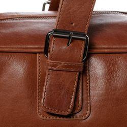 BACCINI sac de voyage cuir marron fourre-tout besace week-end sac sport bagages cabine à main 6