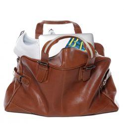 BACCINI sac de voyage cuir marron fourre-tout besace week-end sac sport bagages cabine à main 2