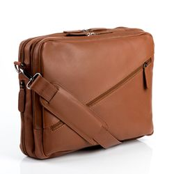 FEYNSINN briefcase & backpack TOM -98- business laptop bag VT-ANALIN leather - tan-cognac