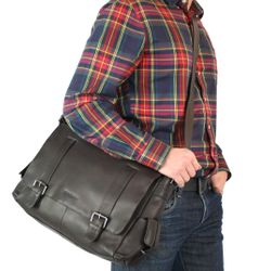 messenger bag ASHTON Aniline leather 6