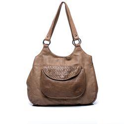FEYNSINN Schultertasche ALLY - Leder Handtasche braun