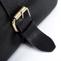 FEYNSINN Umhängetasche JACKSON Premium Smooth schwarz Messenger Bag Umhängetasche 4