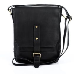 FEYNSINN Leer Messenger bag zwart Messenger bag JACKSON