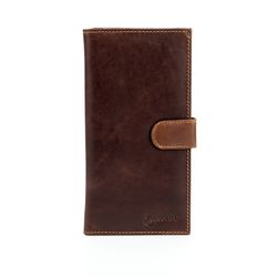 BACCINI billfold wallet LEANDRO -507- portemonnaie PULL-UP leather - brown-cognac