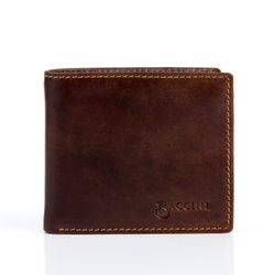 BACCINI billfold wallet LEANDRO -509- portemonnaie PULL-UP leather - brown-cognac