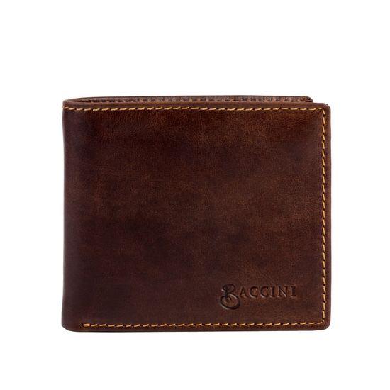 BACCINI Geldbeutel Echtleder LEANDRO Distressed-Braun Brieftasche | Accessoires > Portemonnaies > Brieftaschen | BACCINI