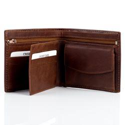 BACCINI porte-monnaie cuir marron portemonaie portefeuille 2