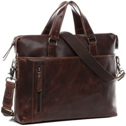 laptop bag LEANDRO Natural Leather 2