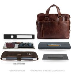 laptop bag LEANDRO Natural Leather 3