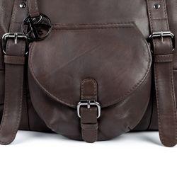 BACCINI Handtasche mit langen Henkeln FIONNA Schultertasche groß gewaschenes Schafsleder braun Handtasche damen 4