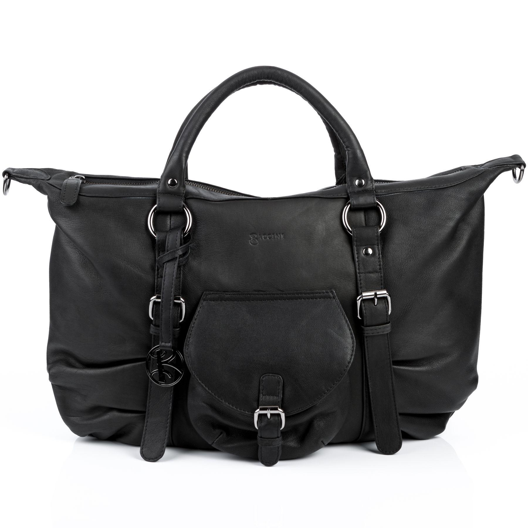 7dad4b856dfd5 BACCINI top-handle tote bag Sheep Leather ZOE black shoulder bag handbag  Bags Women s bags