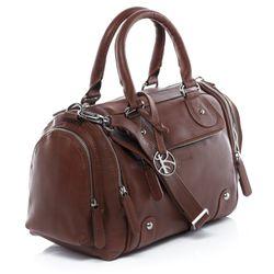 BACCINI sac à main avec bretelle cuir marron sac bandoulière sac des dames  2